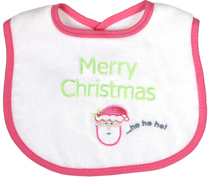 """Merry Christmas"" Girl Bib"