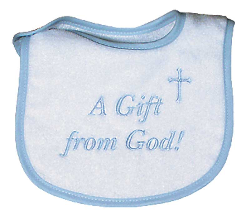 """A Gift from God"" Boy Bib"