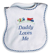 """Daddy Loves Me"" Boy Bib"