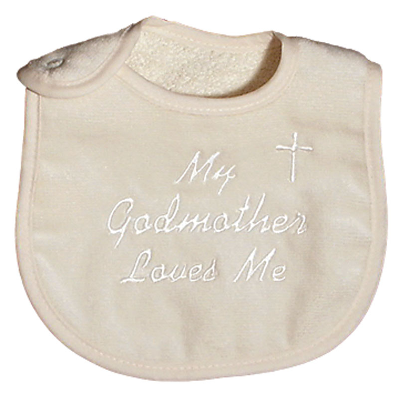 """My Godmother  loves me"" Unisex Bib"