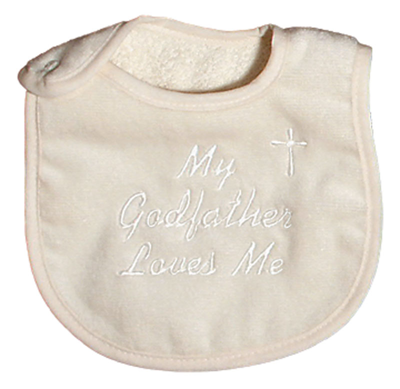 """My Godfather  loves me"" Unisex Bib"