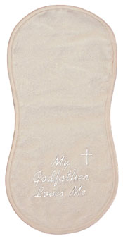 """My Godfather loves me"" Burp Cloth"