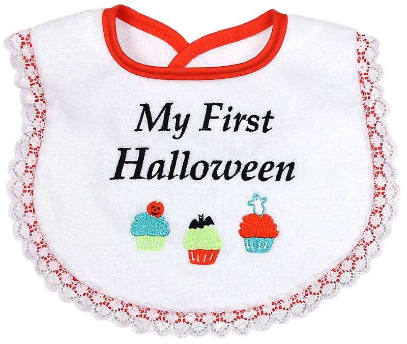"""My First Halloween"" Girl Bib"