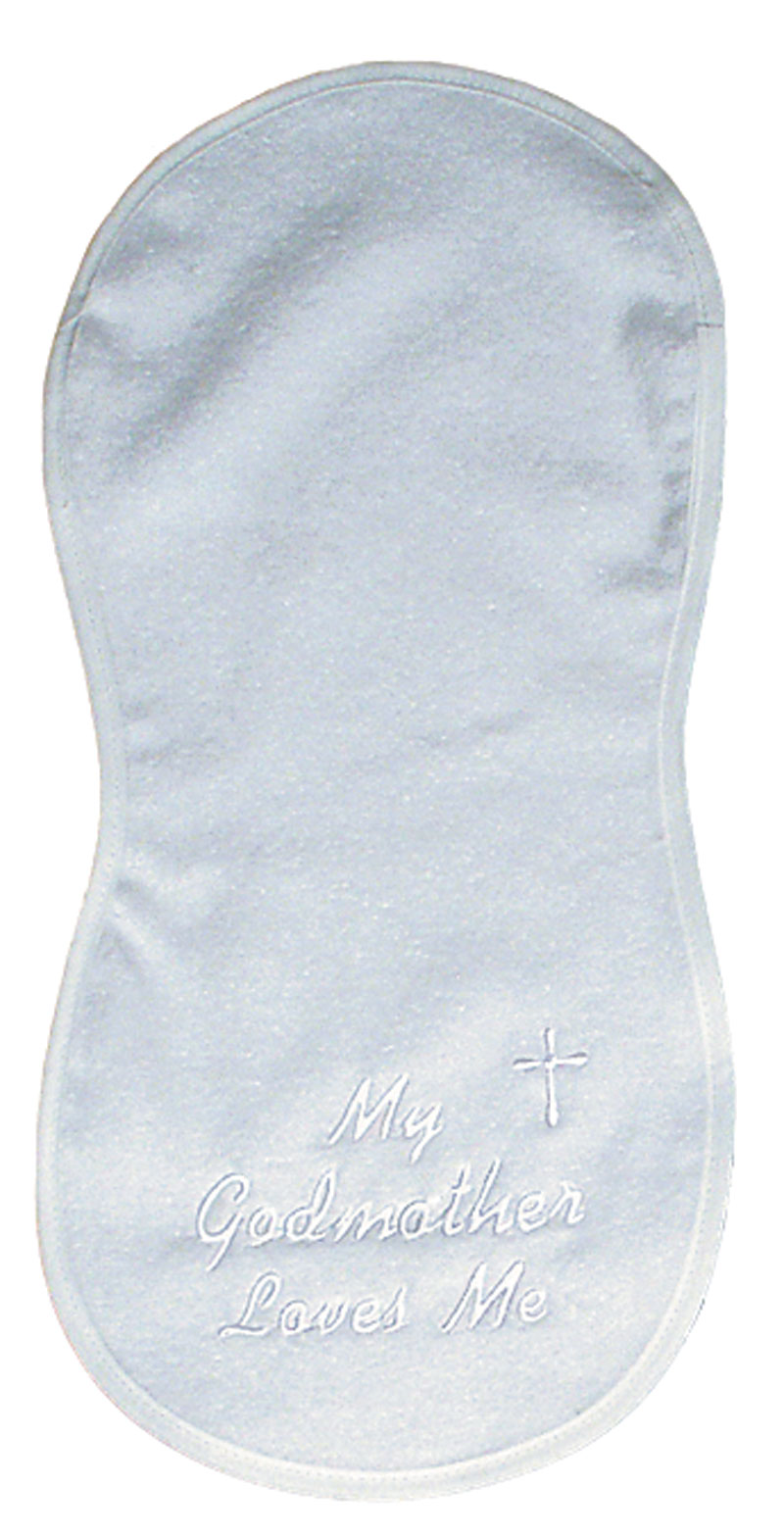 """My Godmother loves me"" Burp Cloth"