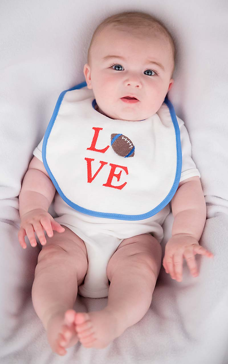 """LOVE"" Boy Bib"