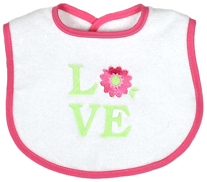 """LOVE"" Girl Bib"