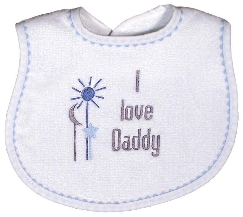"""I love Daddy"" Boy Bib"