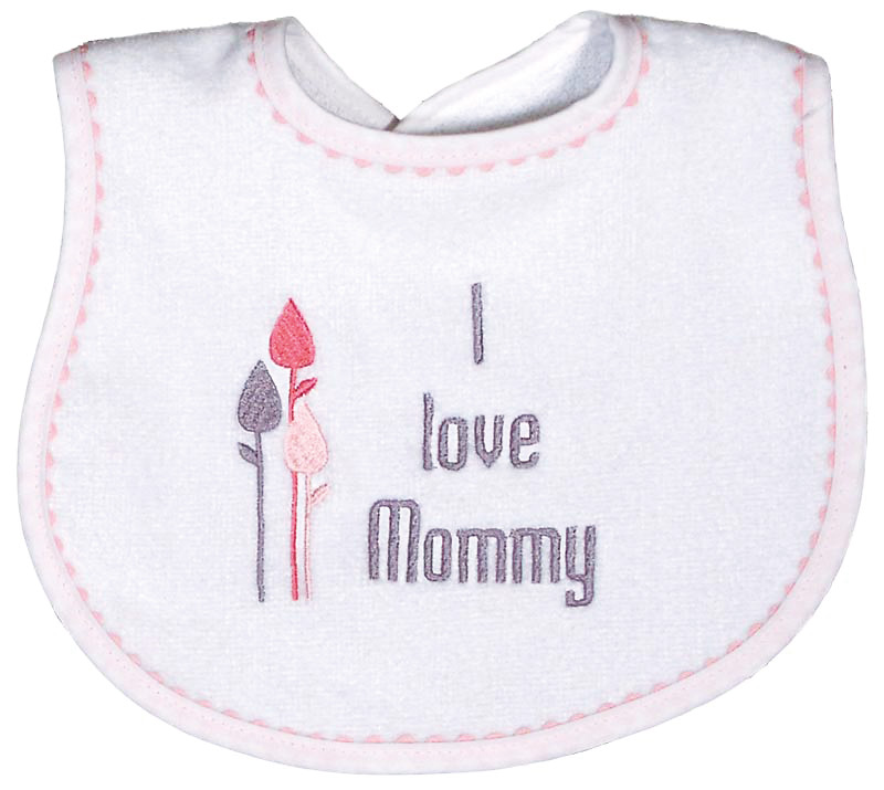 """I love Mommy"" Girl Bib"