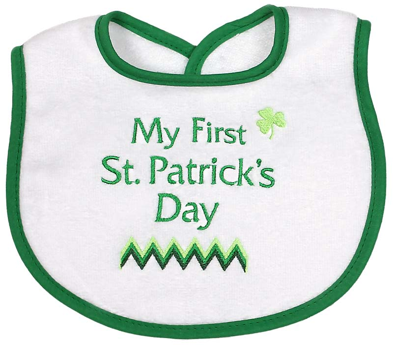 """My First St. Patrick's Day"" Unisex Bib"