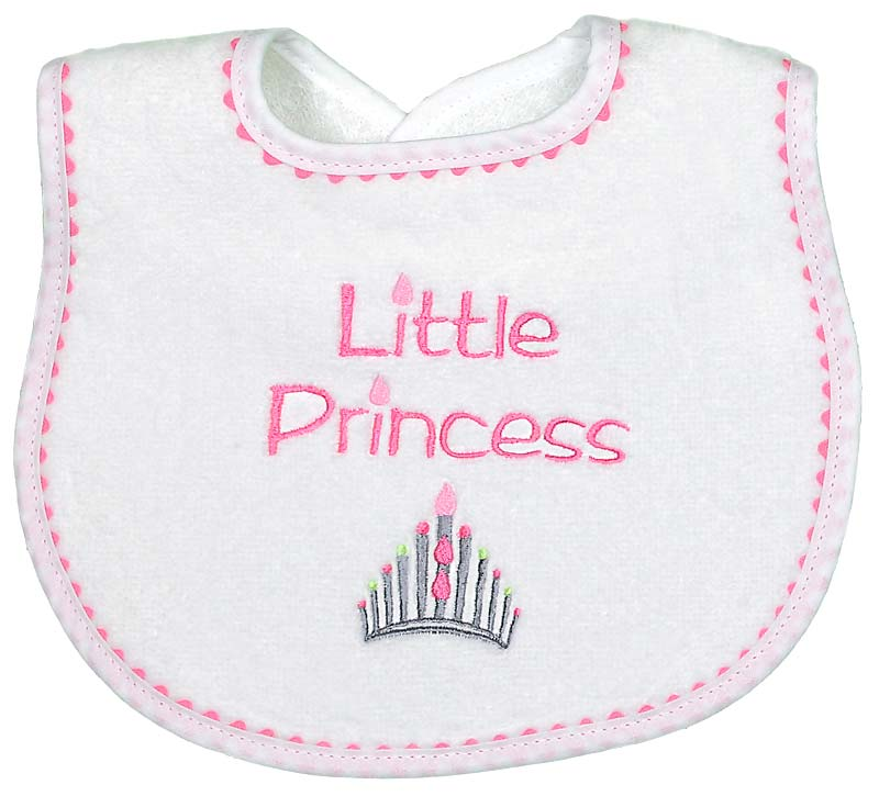 """Little Princess"" Girl Bib"
