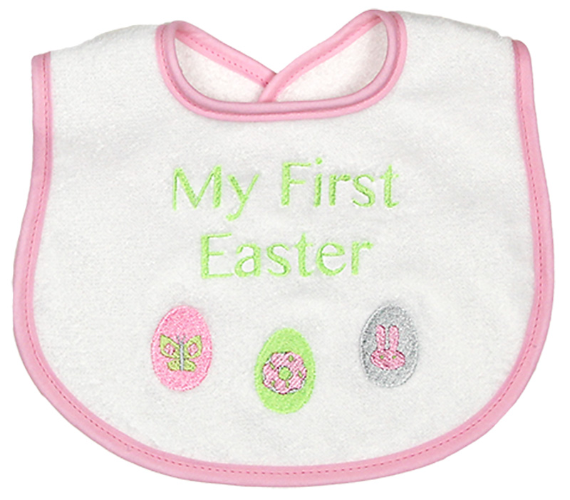 """My First Easter"" Girl Bib"