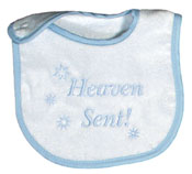 """Heaven Sent"" Boy Bib"
