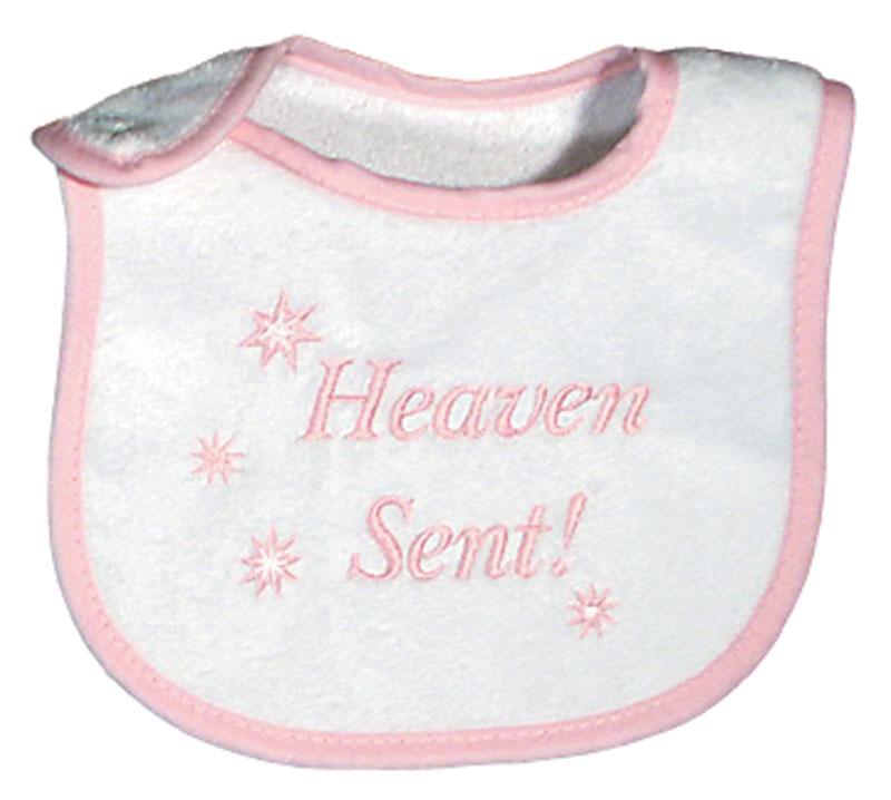 """Heaven Sent"" Girl Bib"