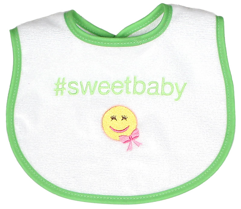 """#Sweetbaby"" Girl Bib"