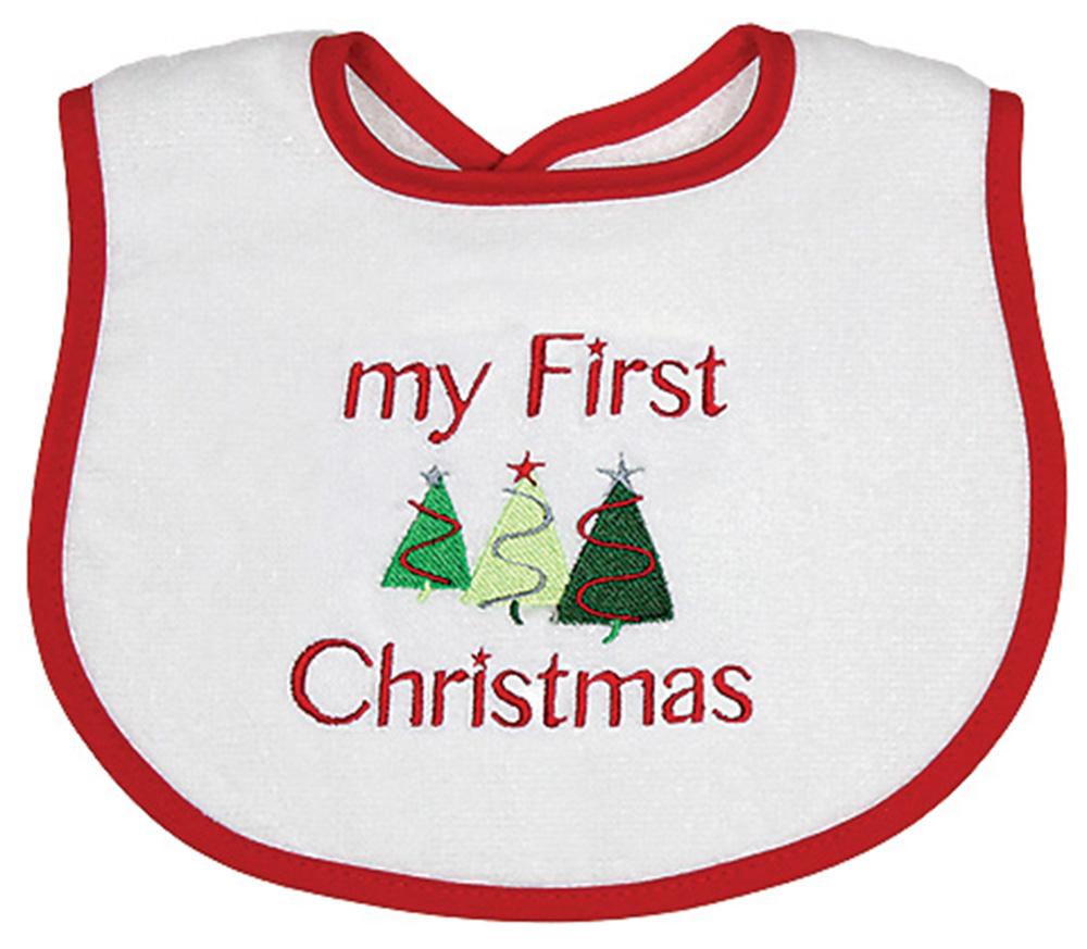 """My First Christmas"" Boy Bib"