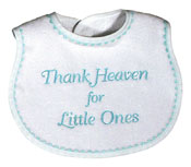 """Thank Heaven for Little Ones"" Unisex Bib"