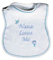 """Nana Loves Me"" Boy Bib"