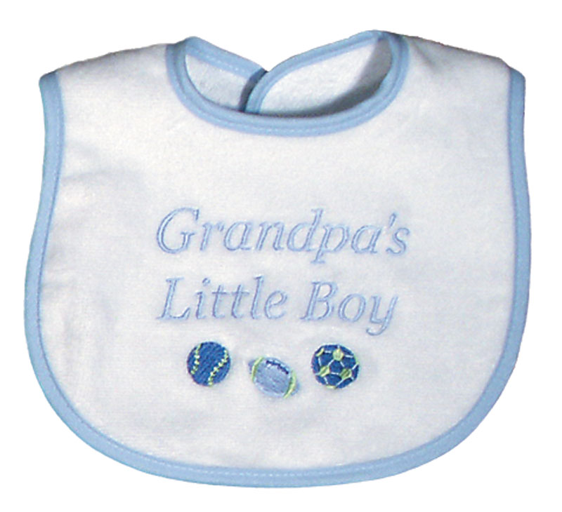 """Grandpa's Little Boy"" Bib"