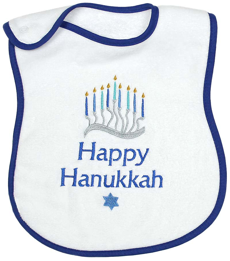 """Happy Hanukkah"" Boy Bib"