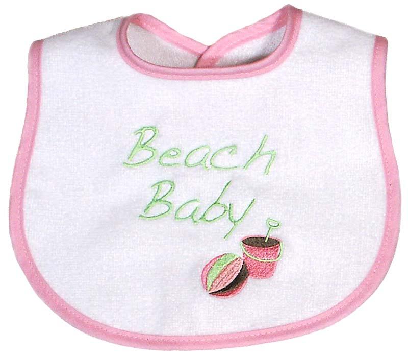 """Beach Baby"" Girl Bib"