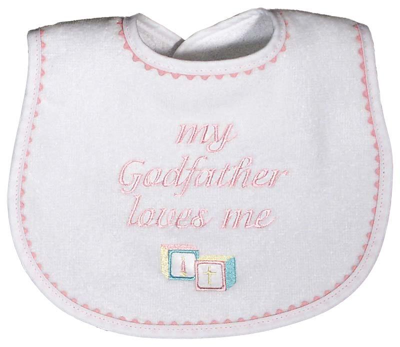 """My Godfather loves me"" Girl Bib"