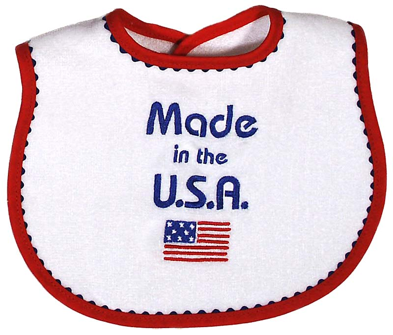 """Made in USA"" Unisex Bib"