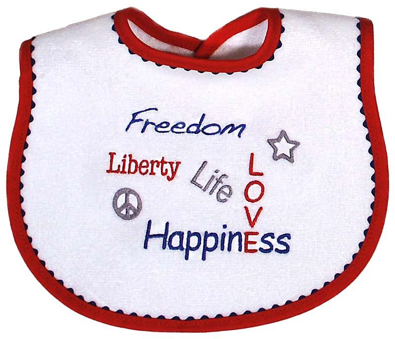"""Patriotic """"Freedom..."""" Unisex Bib"""