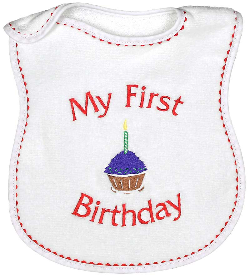 """My First Birthday"" Unisex Bib"