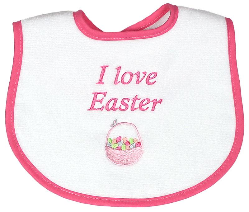 """""""I Love Easter"""" Girl Bib"""