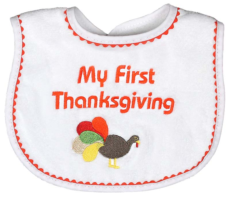 """My First Thanksgiving"" Unisex Bib"