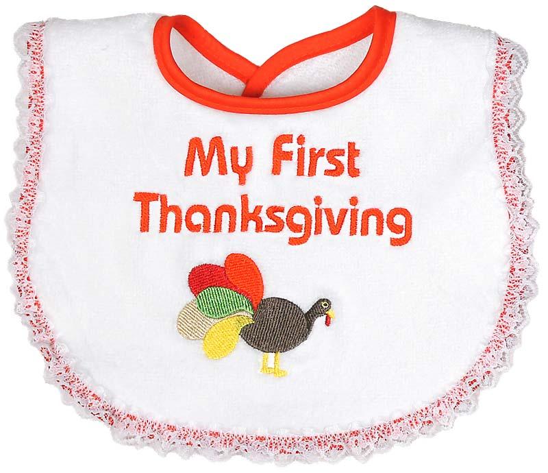 """My First Thanksgiving"" Girl Bib"