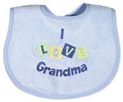 """I Love Grandma"" Boy Bib"