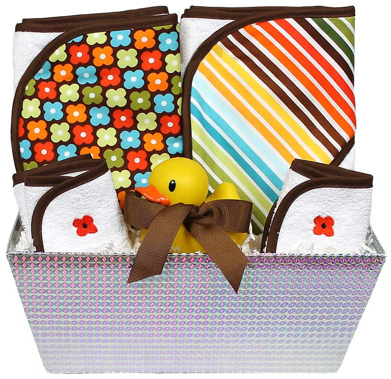 """Wild About Prints"" Bath Towel Brown Girl Gift Set"