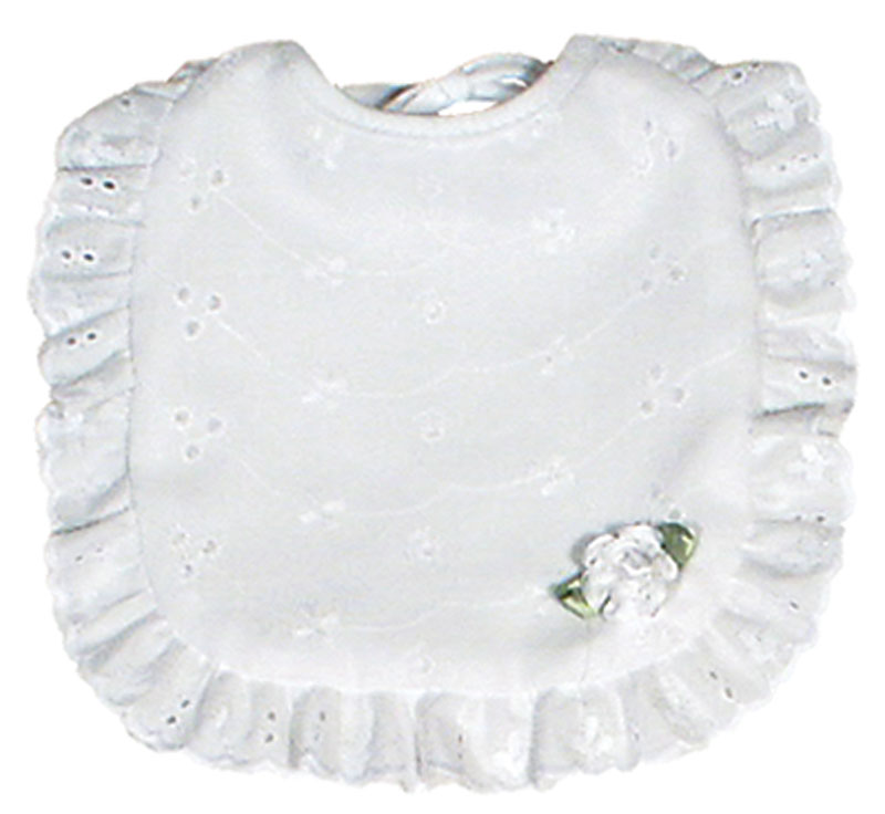 Cotton Eyelet Girl Bib