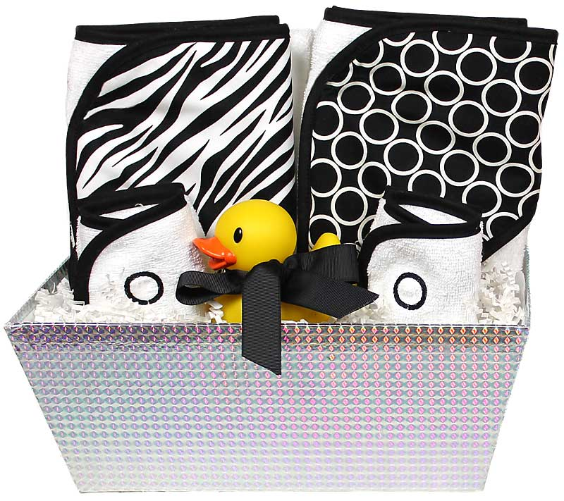 """Wild About Prints"" Bath Towel Black Unisex Gift Set"