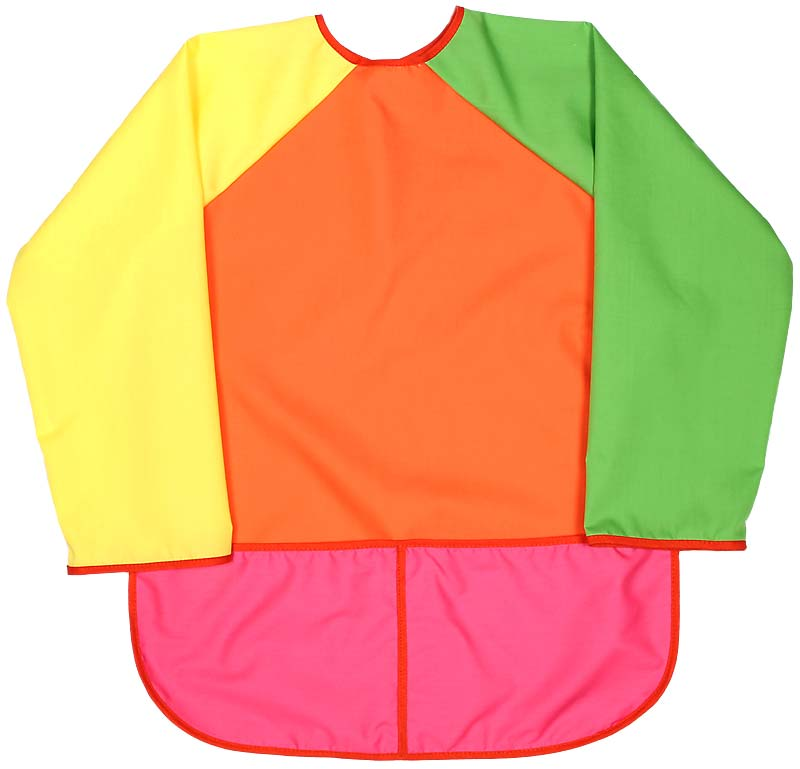 Girl Tangerine Art Smock