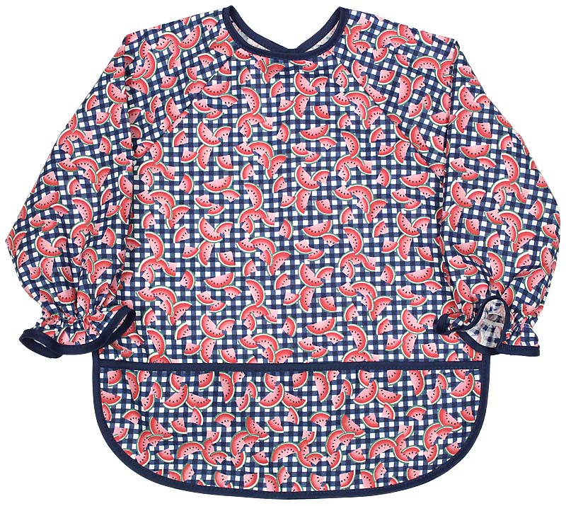Infant Long Sleeve Girl Print Bib