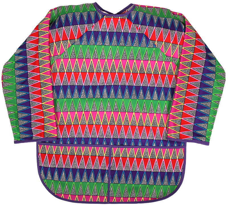Girl Chevron Print Art Smock