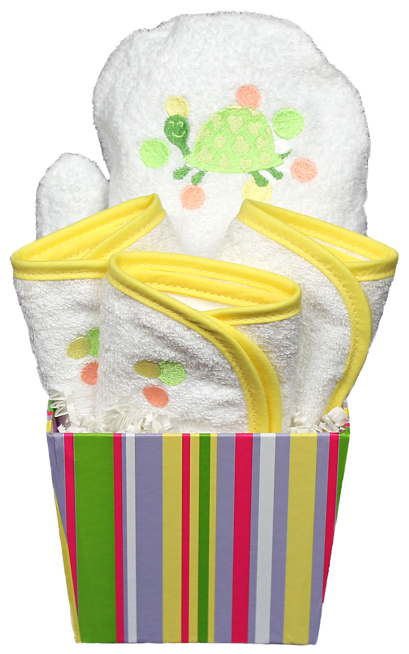 Bubbles n' Stripes Wash Cloth Unisex Gift Set