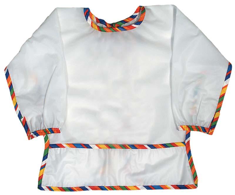 Long Sleeve Nylon Stripe Unisex Infant and Toddler Bib