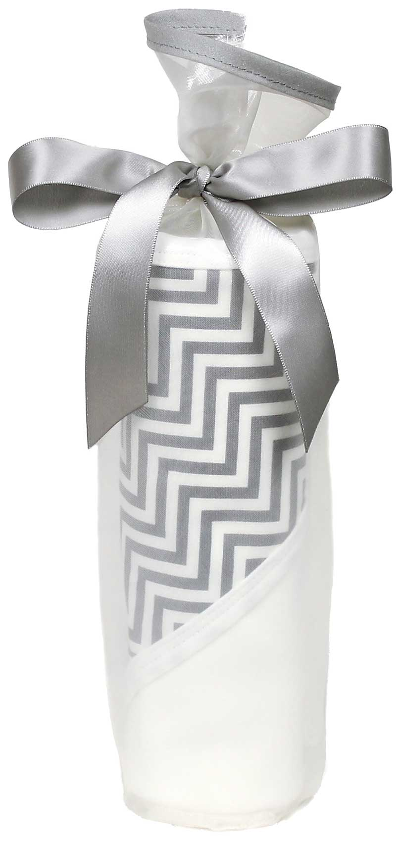 Treasured Silver Kiss Chevron Blanket Gift Set