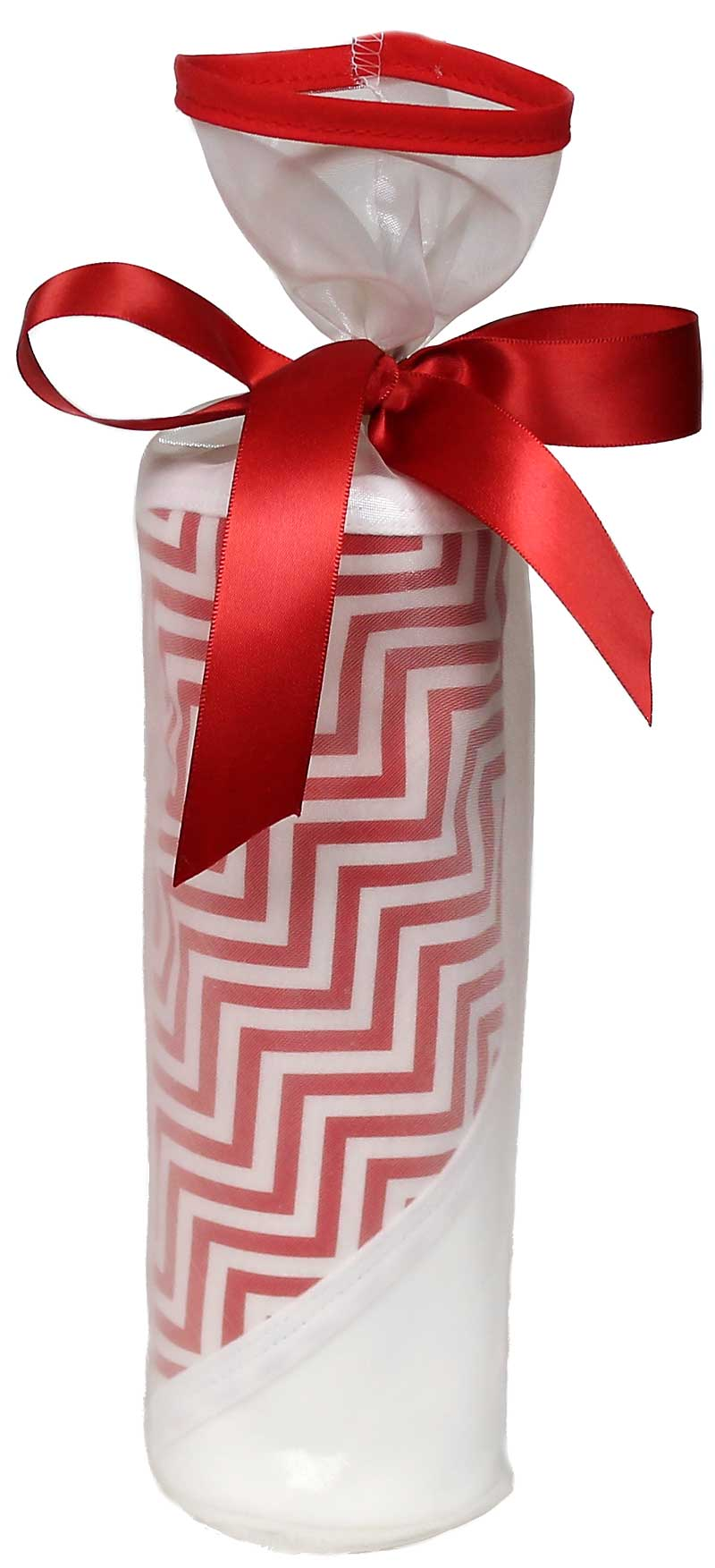 Treasured Cherry Chevron Blanket Gift Set