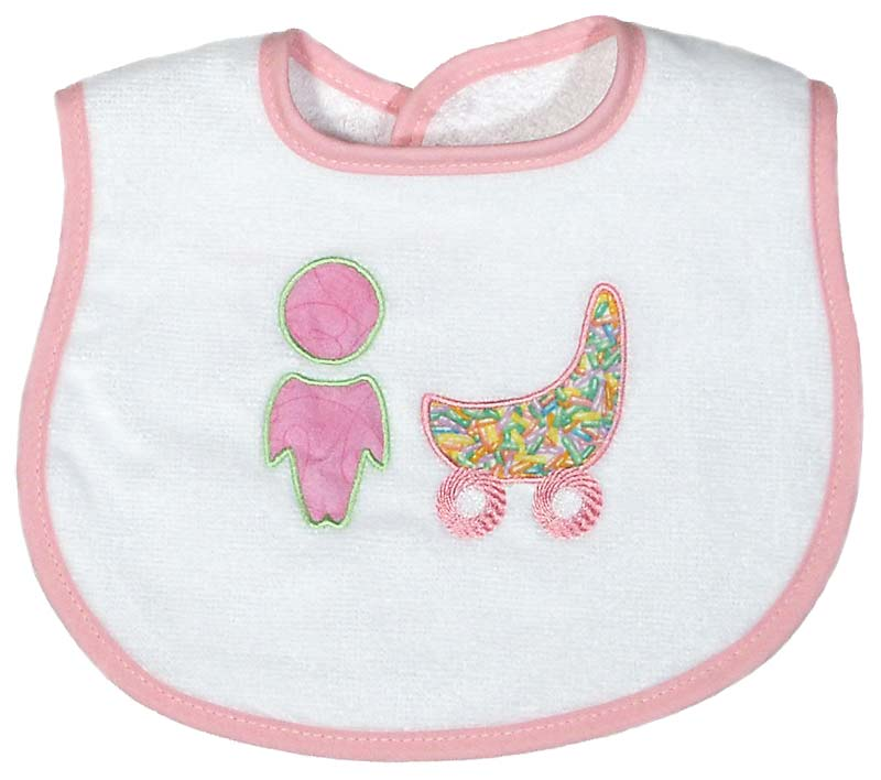 Baby n' Buggy Girl Bib