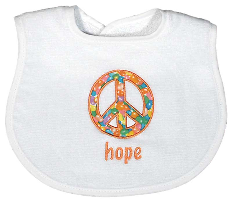 """Hope"" Appliqued Unisex Bib"