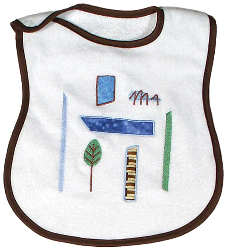 Modern Nature Spider Appliqued Boy Bib