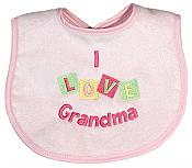 """I Love Grandma"" Girl Bib"