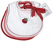 Apple Teething Bib Unisex Sets