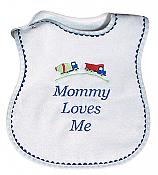 """Mommy Loves Me"" Boy Bib"