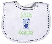 """Little Cousin"" Boy Bib"