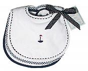 Sailboat Teething Bib Unisex Sets